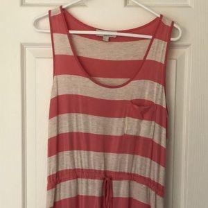 Pink striped beach dress